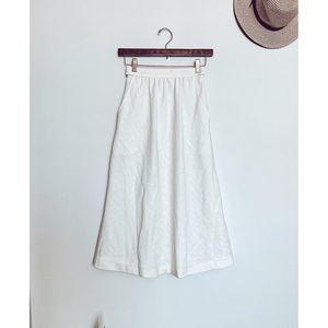 Prophecy Cream Vintage Midi Skirt, Sz 4